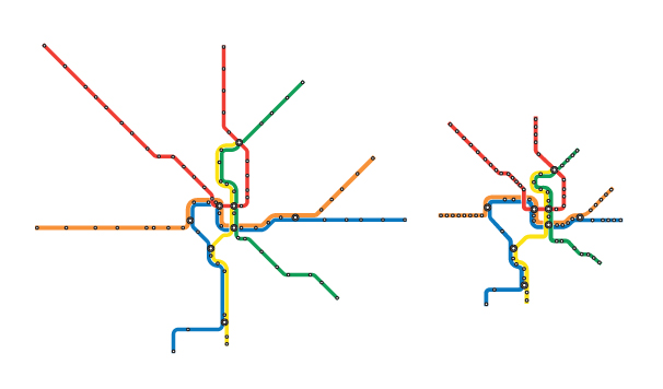 Time Scale Metro Map