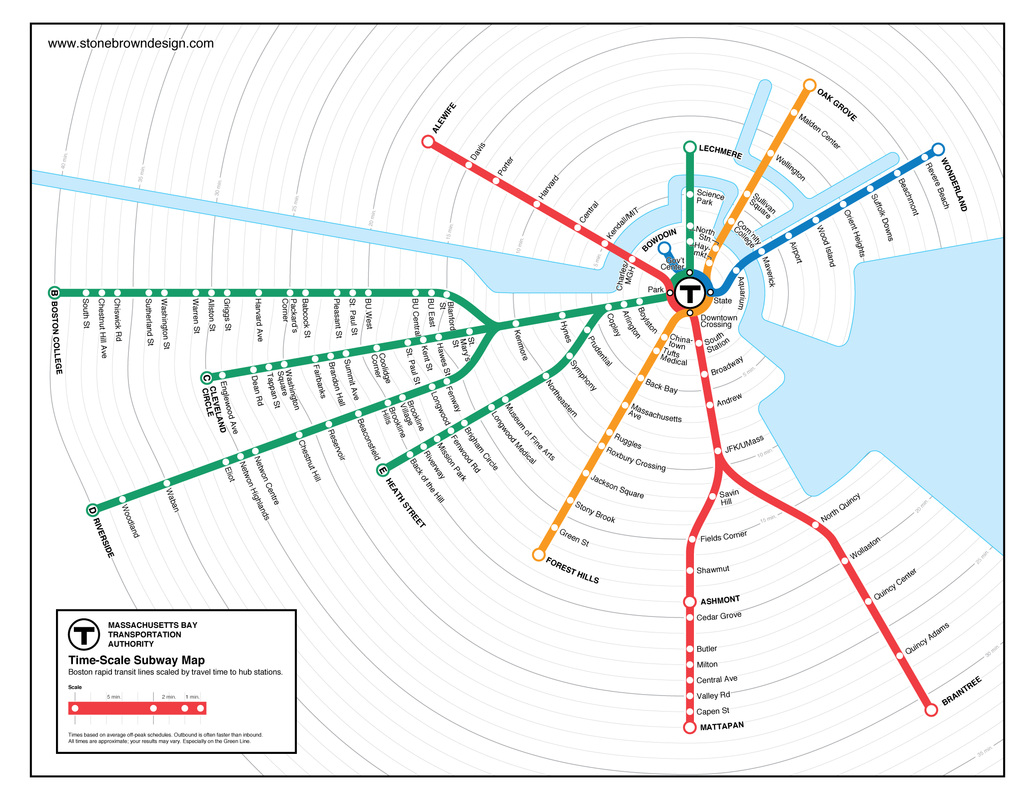 How To Design A Subway Map.Boston T Time